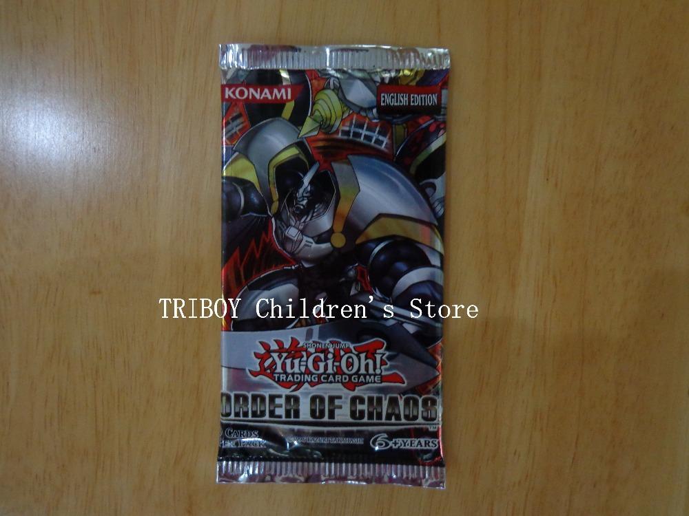 Yugioh genuine konami card game set english order of chaos 707 version yugioh 9 card/set board game for kids playing card(China (Mainland))