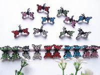 100pcs mini butterfly girl hairpin
