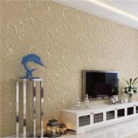 (53*100cm/roll) Modern Cloud Pattern 3D waterproof Non-woven Wallpaper Bedroom Living room Background TV wall paper, free ship