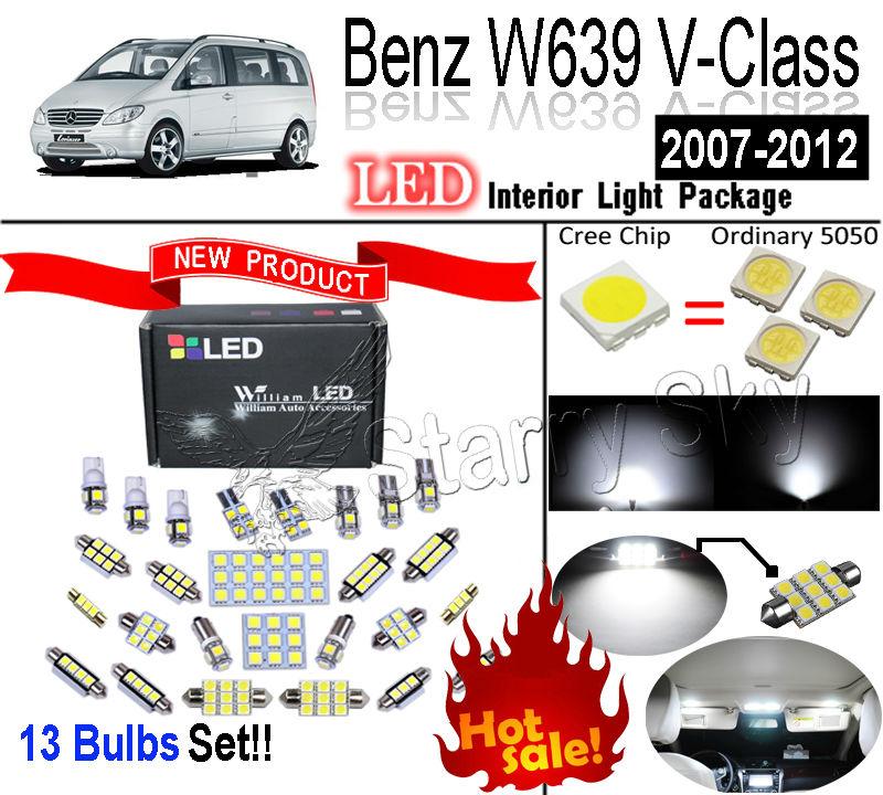 Лампа для чтения William LED 13 SMD Benz W639 V V350 2007/2012 лампа led