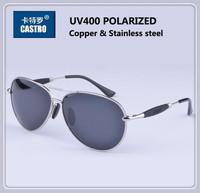 2014 Special Copper Stainless Steel Frame TAC Polarized Lens Men's Design Sunglasses Male Driving Fishing Sports Man Sun Glasses