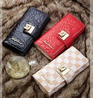 Tango han edition bowknot lady wallet female long wallet 2014 new lattice hand bag