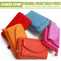 2014 New Arrival fashion Korean SSMAZIE zipper stylish wallet for smartphone smart wallet case fashion woman wallet