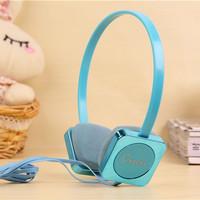 Fresh candy color headset earphones phone with microphone earphones girls earphones