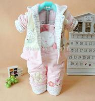 2014 New baby cotton winter warm suit casual character rabbit children clothing set baby underwear 4103