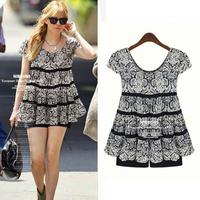 Plus size clothing plus size 200 mm Large plus size one-piece dress twinset