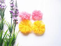 100pcs DIY handmade ribbon flower applique craft
