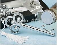 Free Shipping  50Pcs/lot  Key Shape Gift Box Packing Bottle Opener  Wedding Favors Party Supply