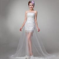 Vestido Romantic Wedding Dress New k20 Up Embroidery Gown Formal Bride 2014 Tube Top  Design bridalk