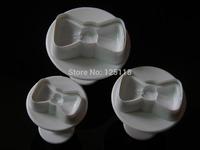 wholesale ten sets of 3pcs bow tie plunger cutter for fondant cake decoration