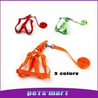 4 solid color Nylon Pet Cat Doggie Puppy Leashes plastic Lead Harness Pet Dog Leash Multicolor Traction Rope Adjustable pet shop