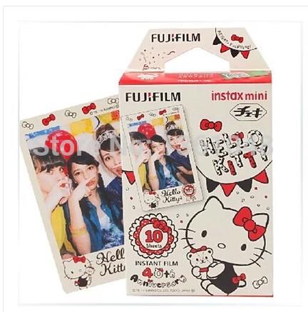 Free shipping 5 Packs FujiFilm Fuji Instax Mini Film,50 Instant Photos 7s Mini 8 25i 55i Anniversary Edition kitty version(China (Mainland))