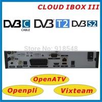 Free shipping cloud ibox 3 twin tuners DVB-S2 + T/C tuner cloud ibox III enigma 2