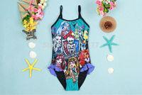 2014 New free shipping monster high girl girls swimwear swimmers swimming costume togs