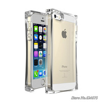 2014 New Style Soft TPU Case for iPhone 5 5s Mobile Phone Bag for Apple iPhone 5 s ICE CUBE BLOCK Transparent Clear Back Cover