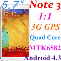 new mobile phone 1:1 NOTE 3    factory price original logo mobile phone , 3G wifi free shipping