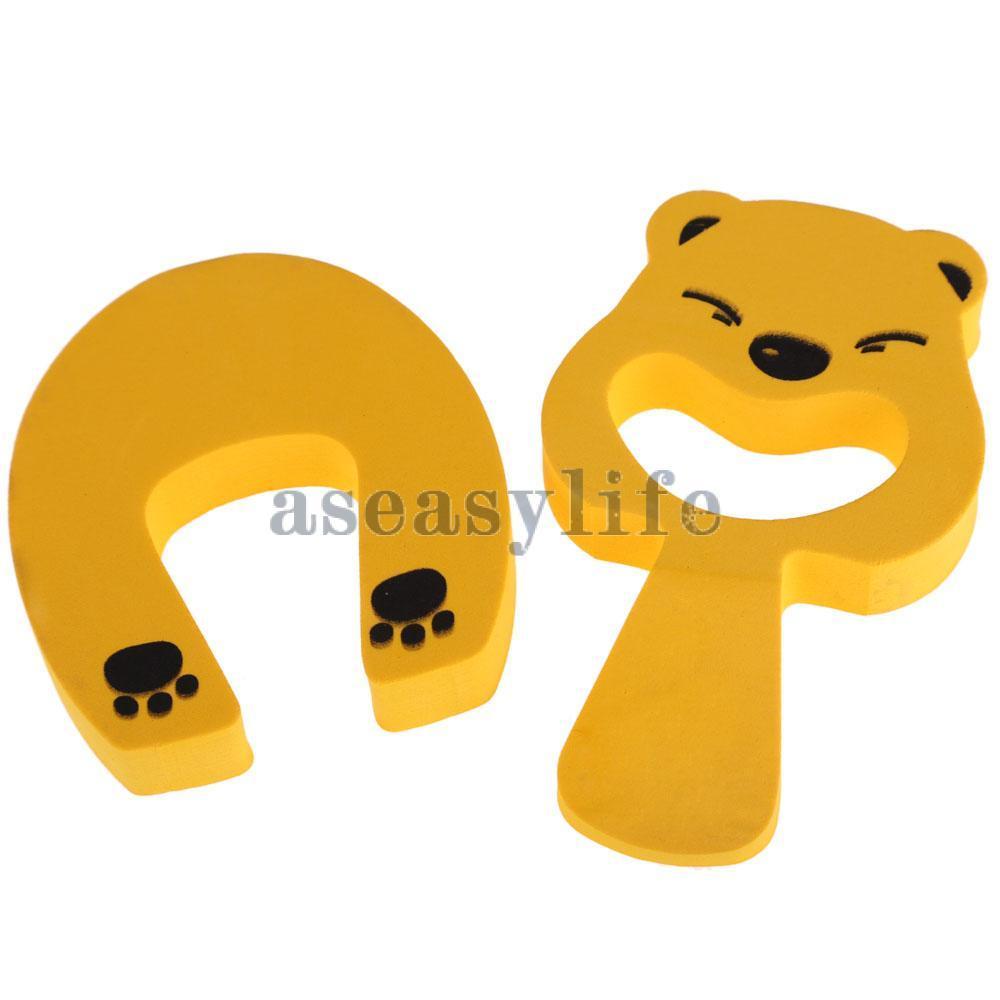 Бесплатная доставка животных мультфильм дверь карты затвор двери безопасности комплект желтый горячая распродажа