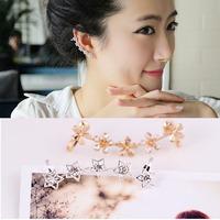 New Arrival Lovely star /Flower No Pierced Ear Cuff Unilateral Wedding Ear Clip Jewelry For Women
