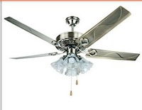 42/48 inch 5 lobes 4 lamps, stainless iron The fan lights European top-grade green patina ceiling fans
