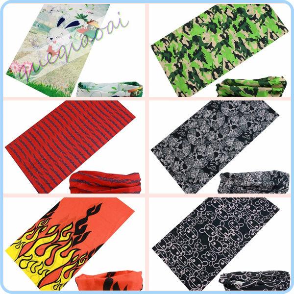 TJ006 Hot! outdoor sports cycling riding fabric flowers Turban magic headband veil multi scarf rabbit pattern bandana(China (Mainland))