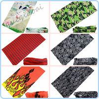 TJ006 Hot! outdoor sports cycling riding fabric flowers Turban magic headband veil multi scarf rabbit pattern bandana