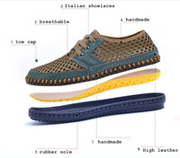 Free shipping 2014 summer net fabric shoes ultra-light shoes network breathable gauze male hand-made casual shoes
