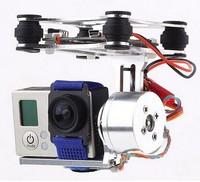 free shipping Brand New 1 set 2014 New 2-axis BGC Brushless Camera Gimbal GoPro3 Controller PTZ aluminum Full set of parts