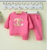 HOT!Retail 2014 spring & autumn sports clothing set(coat+pants) baby boy girl high quality 2pcs suit newborn wear Free shipping