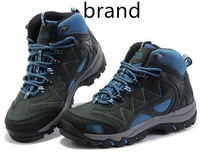 Free shipping,2014 new brand outdoor women hiking shoes high-top shoes leather surface breathable and waterproof