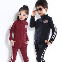 NEW 2014 autumn boys girls brand set baby brand clothing set best child boys tracksuit children sports coats jacket + pant