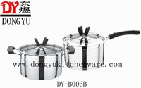 Eco-Friendly High Quality Mirror Polished Stainless Steel Cookware Sets, Double Bottoms and Single Bottom Cooking Stockpot Sets