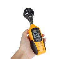 Pocket High Sensitive LCD Display Digital Anemometer & Wind Speed Meter Thermometer Air Temperature Gauge With Vane Sensor