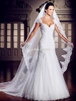 Real Custom Made 2014 New Design Mermaid Backless Sweetheart Lace Bridal Gown Vestido De Noivas Wedding Dresses Free Shipping