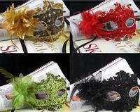 2014 hot models beautiful diamond lace princess lily leather mask masquerade mask free shipping