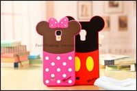 Cartoon Mickey Minnie donald silicone phone cover case for Samsung Galaxy S4 poch sulley case fors4 alien daisy case for 9500