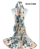 special offer Hot sale  2014 new cotton scarf long literary temperament large shawl female Japanese butterfly fiying flying