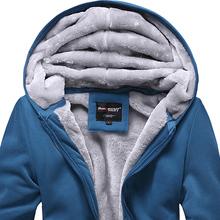 Bongo teenage autumn and winter wadded jacket coat with a hood male thickening sweatshirt plus velvet baseball uniform(China (Mainland))