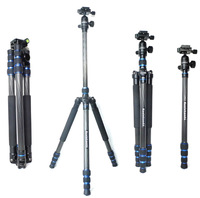 koolehaoda Professional Travel Carbon Fiber Camera Tripod Stand with Carry Bag