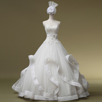2014 Time-limited Sweetheart Up Natural Gown Vestidos De Noiva Qi In Wedding Luxurious Dress Formal Sweet Tube Top Hs1041bridalk