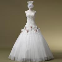 2014 Wedding Dress Vestidos De Novia Sweetheart Up Sequined New Arrival Bride Tube Top Wedding Qi Slim Waist Hs1042bridalk