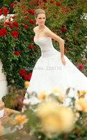 2014 Sweetheart Fashionable Bridal Gown Vestido Tube Top Wedding Dress Beaded Long Trailing Bandage Autumn Customizebridalk