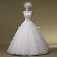 2014 Romantic New Sweetheart Up Arrival Handmade Wedding Dress Luxury Diamond Decoration Tube Top Strap Style Gownbridalk