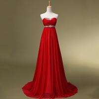 2014 Sweetheart No Promotion Vestido Longo De Renda Fashion Tube Top Small Bridal Evening Dress Formal Costume Lf1011bridalk