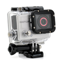 "Full HD Sports Camera ""GOTOP"" - 16MP, 1.5 Inch Screen, 120FPS, 140 Degree Wide Lens, 5 Mounting Accessories"