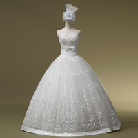 2014 Sweetheart Lace Up Bridal Gown Vestidos De Noiva Wedding Dress New Arrival Tube Top Formal Sweet Princess Hs1030bridalk