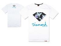Fashion Diamond Supply co leather sleeve short Tee shirts brand basic t-shirt men t shirt street dance clothing plus size