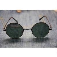 Retro spring elbow sunglasses, Round lens design for performance, 2pcs per lot