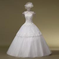 2014 Real New Fashionable Wedding Dress Vestidos De Noiva Water Soluble Lace Strap The Bride Wedding Dress Formal Hs1011bridalk
