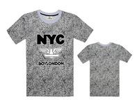 Boy london t-shirt men's short sleeve shirt boy london t-shirts cotton print leopard Floral Graphic tees man Loose t-shirt S-3XL