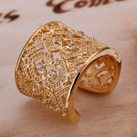 Fashion Inlaid Zircon Multi Heart Ring Hollow Out Women&Men Gift Gold Jewelry Finger Rings LKNSPCR107